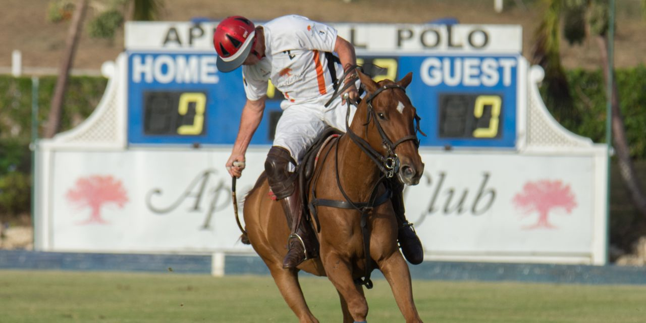 Ein Polospieler auf Barbados