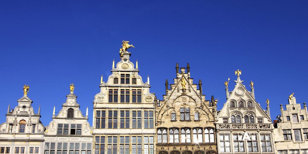 Giebelhäuser am Großen Markt in Antwerpen