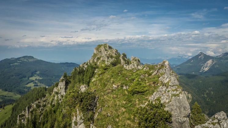 Unterjoch, der österreichische Gipfel des Sorgschrofen vom deutschen Zinken aus gesehen