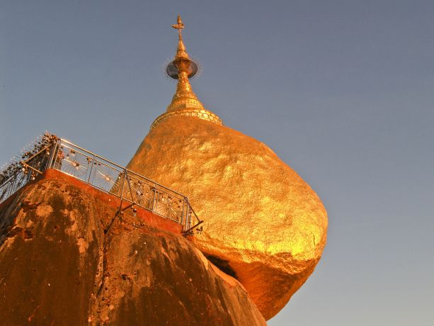Der Golden Rock in Myanmar