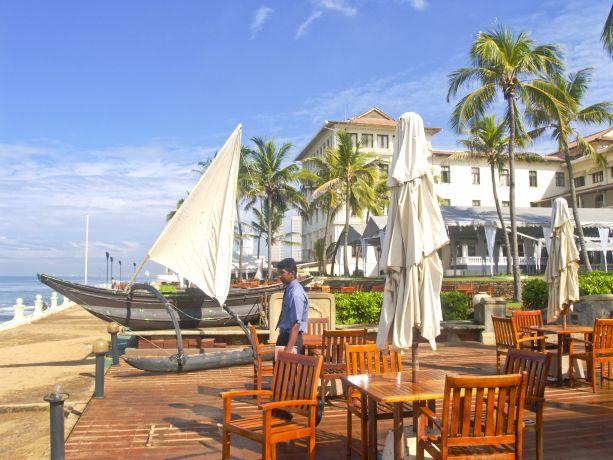 Blick aufs Meer am Hotel Galle Face