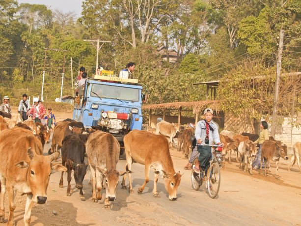 Auf Burmas Straßen