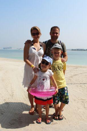Familie mit Kindern im Aquaventure Waterpark in Dubai © visitDubai