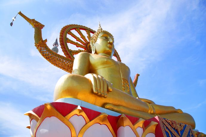 Goldener Buddha in Koh Samui