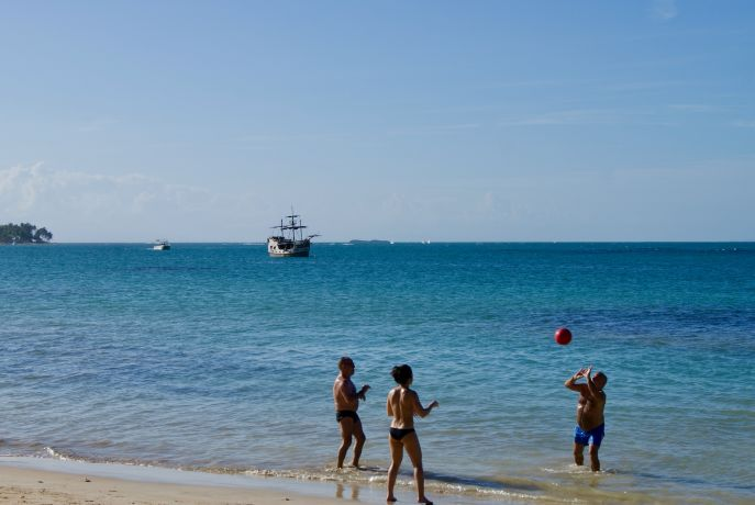 Playa Punta Popy in Las Terrenas, Dominikanische Republik