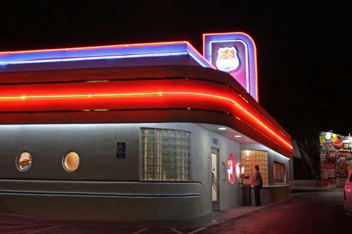 Ein typisches Diner an der berühmten Route 66 in den USA ©flickr/Tony Hisgett