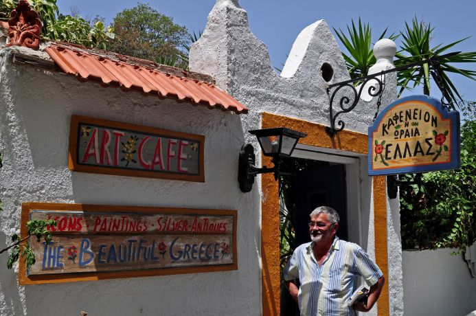 """Das Künstlercafé """"Schönes Griechenland"""""""