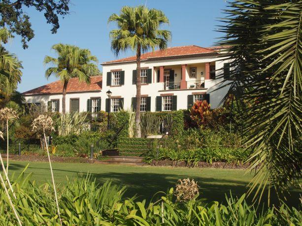 Blick auf das Haus Quinta Jardin do Lago auf Madeira