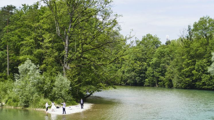 Beliebt, auch bei Brautpaaren: Das Naturschutzgebiet Unterhimmler Au