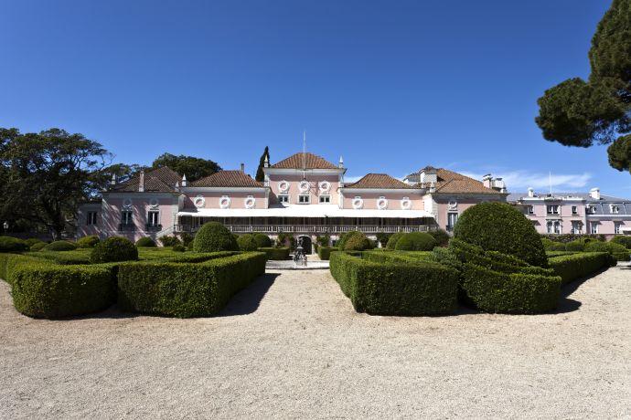 Blick auf den Palacio de Belem in Lissabon