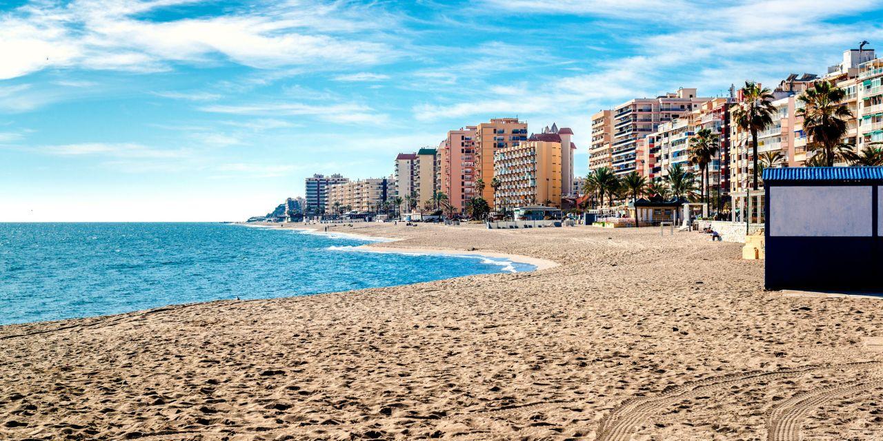 Die Playa los Boliches in Fuengirola