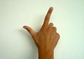 Handzeichen zwei Finger