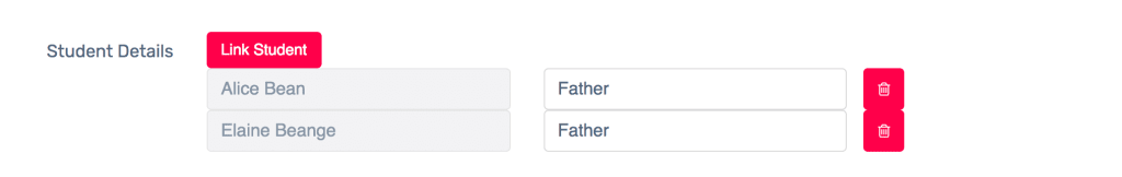 listing your parent on your school website