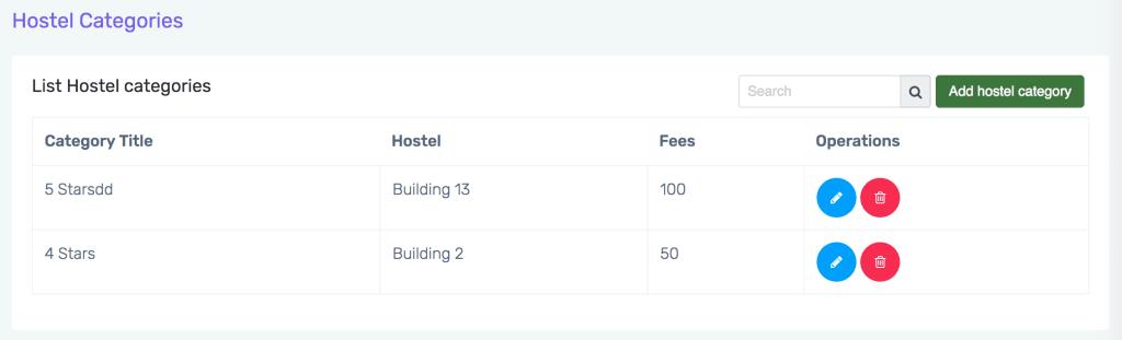 School Hostel software