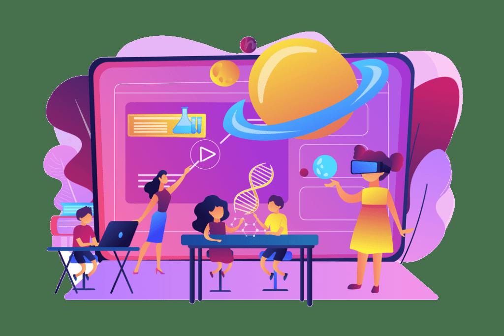 smart school concept