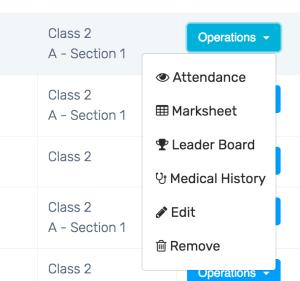 Student management setting