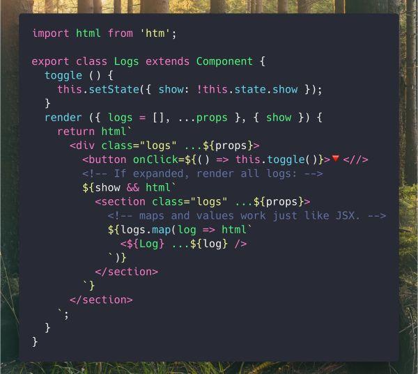 Hyperscript Tagged Markup: A JSX Alternative using Standard Tagged Templates