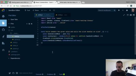 Awesome React - render React Components with react-testing-library