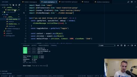 Awesome React - Test Driven Development with react-testing-library