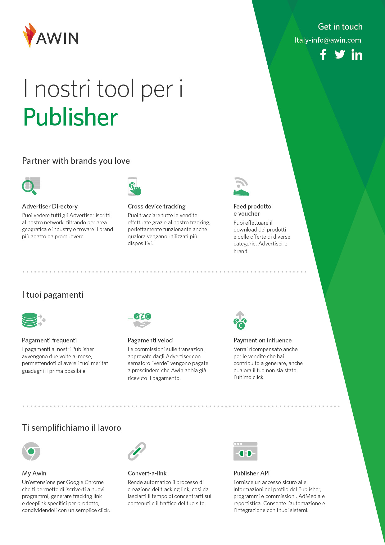 il nostro one pager tool per Publisher