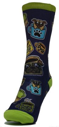 pugs and mugs sock
