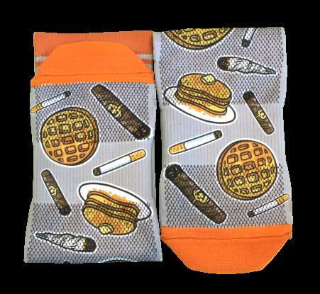 smoke and a pancake sock