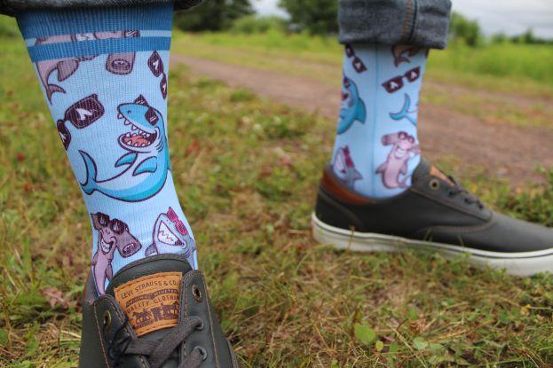 sharks and shades sock