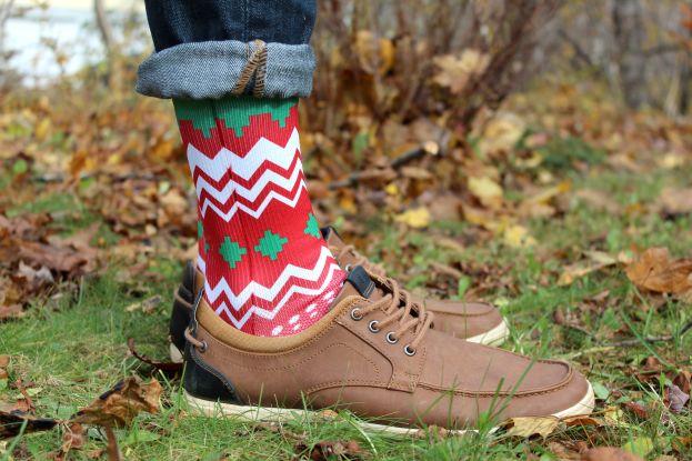 ugly christmas sweater sock