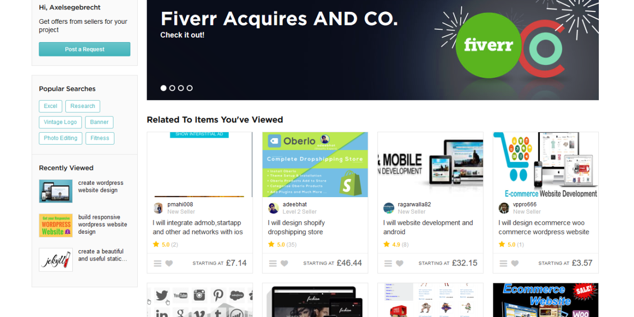 Dipping my toe into fiverr.com or how I joined the gig economy