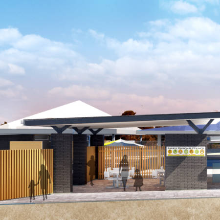 Sport & Recreation Project - Purkiss Swimming Pool Complex and Football Change Rooms by Hames Sharley