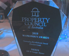 Thumbnail for the article 'PCA Award win for 240 St Georges Terrace refurbishment'