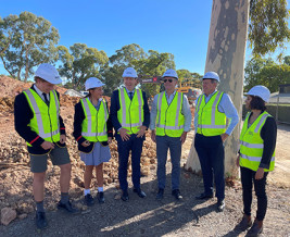 Thumbnail for the article 'Ground breaking ceremony takes place at Scotch College Wellbeing & Sports Centre'