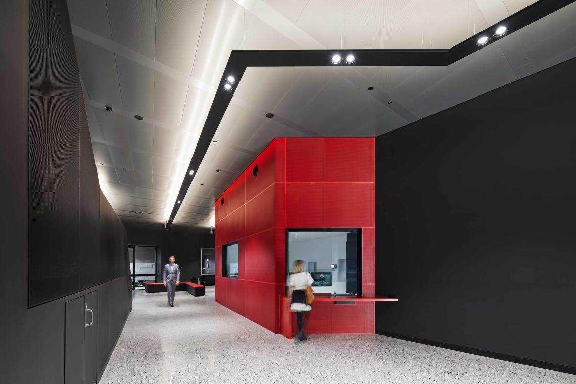 Ultra-modern interior fitout of the P2 Data Centre in Perth