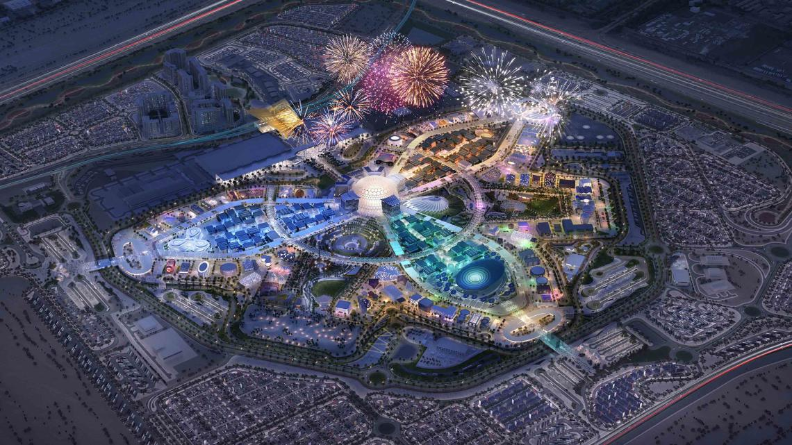 Artists Impression of the Expo 2020 Dubai.