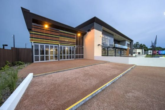 The Michael Long Centre is a first-class facility that incorporates a learning area and residential accommodation, a gym, lap pool and rehabilitation pool and spa, an education space, music and arts space, function rooms, a lecture theatre, a dining room a