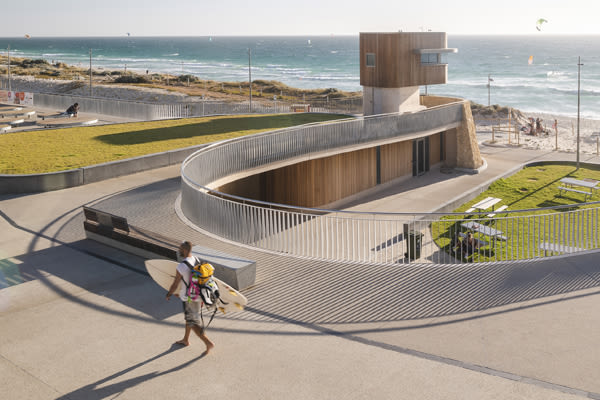 Scarborough Surf Life Saving Club walkway above the facility.
