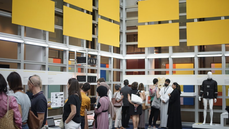 The main hall of the Global Grad Show.
