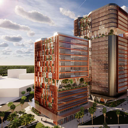 A Tertiary Education, Science & Research Project - Charles Darwin University City Campus Concept, Darwin CBD, Northern Territory, by Hames Sharley