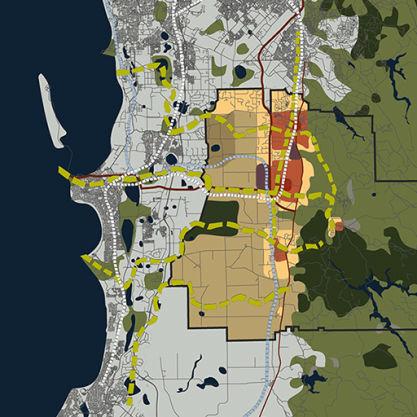 A Urban Development Project - Shire of Serpentine Jarrahdale 2050 Vision, Serpentine Jarrahdale, WA, by Hames Sharley