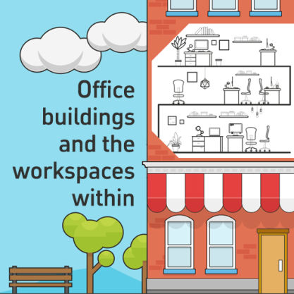 Knowledge article: 'Office buildings and the work spaces within…' by Darren Bilsborough