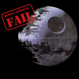 Feature image for the article 'That's no moon – that's a failed design approval!' by Michael Cooper