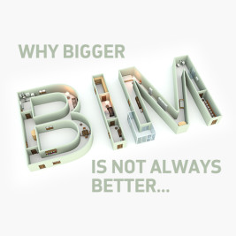 Feature image for the article 'Why bigger BIM is not always better' by Cameron Mack