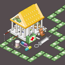 Feature image for the article 'Bricks and mortar philanthropy the key to medical research funding' by Kate Fuller with Aldo Raadik