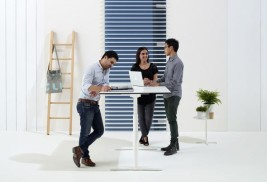 Feature image for the article 'Is the sit-stand desk here to stay?' by Melanie Colegate and Kath Walters