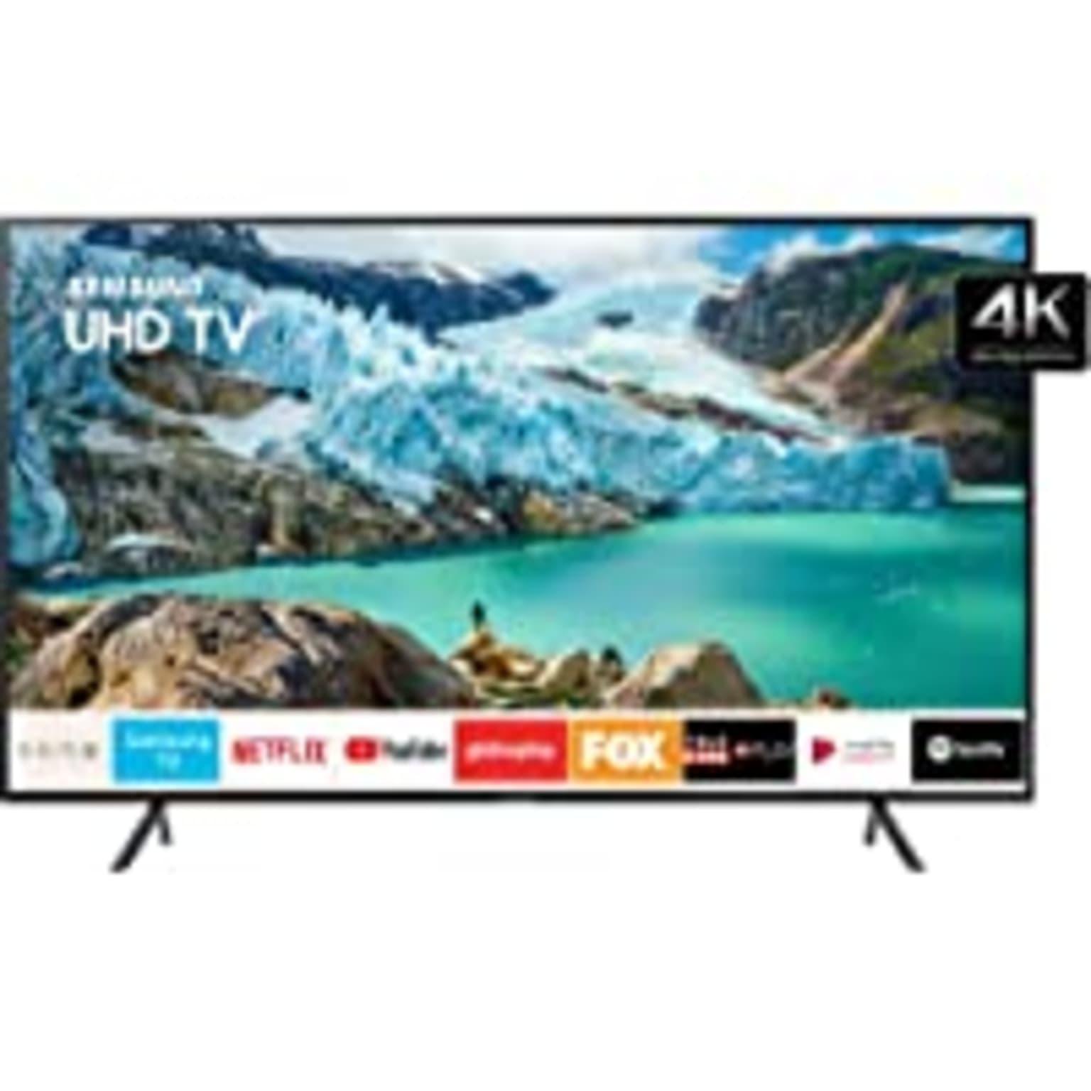 "imagem de Smart TV LED 58"" 4K UHD Samsung UN58RU7100, Conversor Digital, 3 HDMI, 2 USB, Wi-Fi, Visual Livre de Cabos e Bluetooth"
