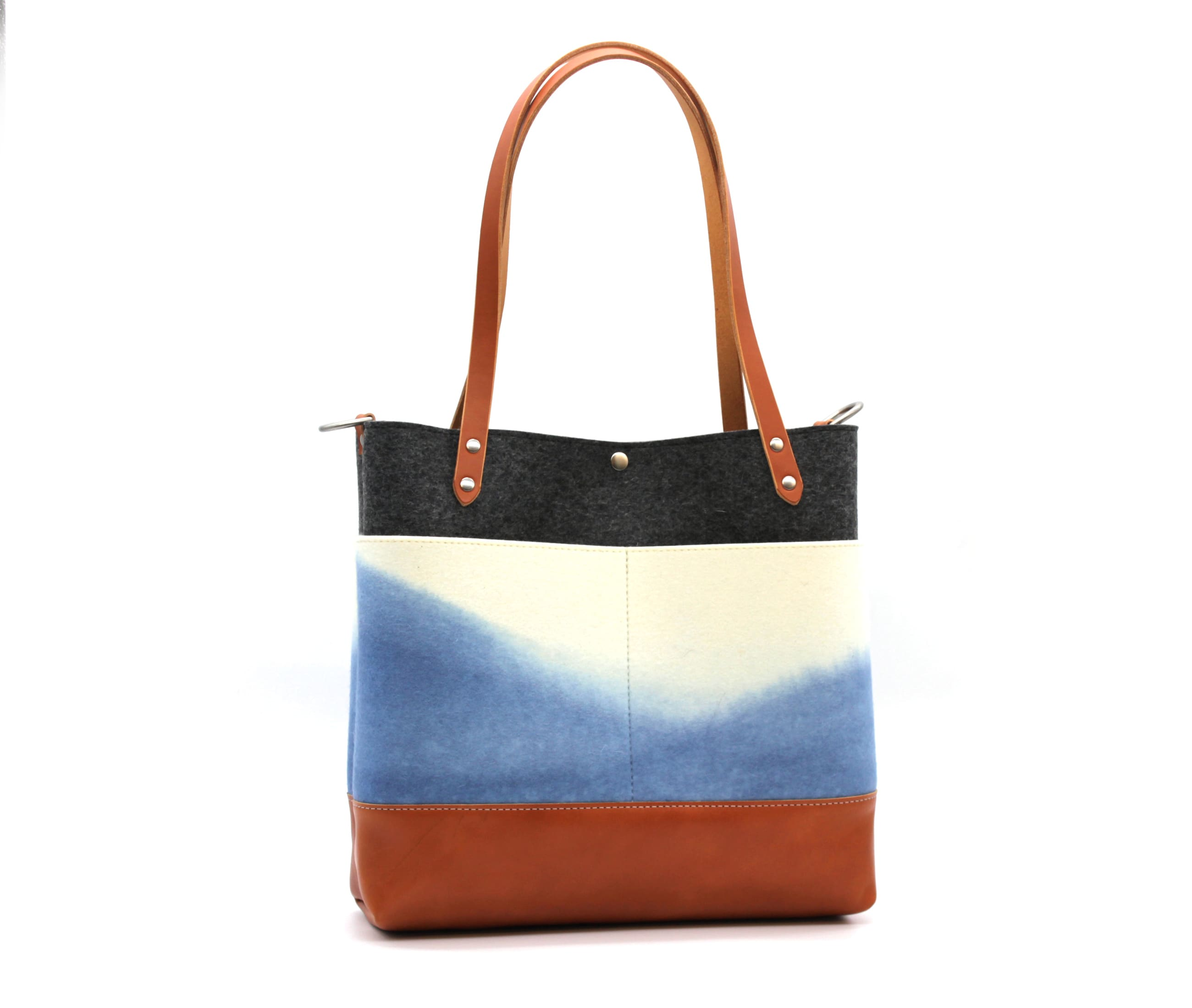/az0067015-01_brcd8u.jpg view of the Medium Felt Tote / Indigo by Azellaz