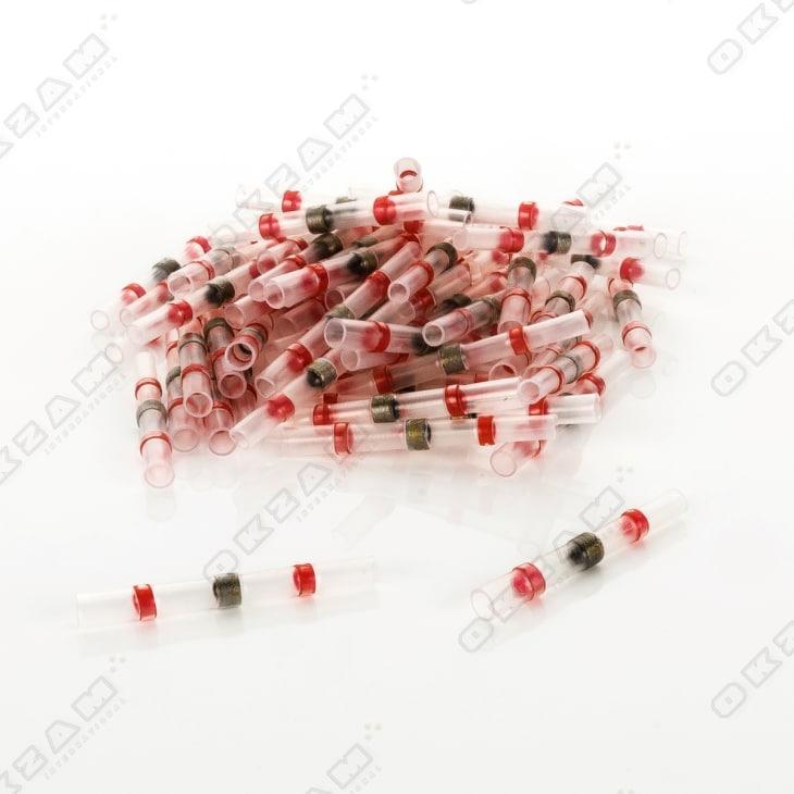 0.5-1.5 mm² 50 Stück Lötverbinder mit Schrumpfschlauch wasserdicht rot