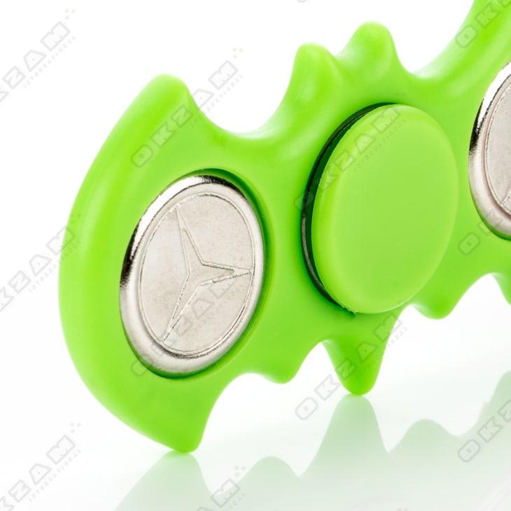 Fidget Spinner Fledermaus hellgrün Hand Dreher Kreisel Finger Entspannung ADHS Auto: accessoires