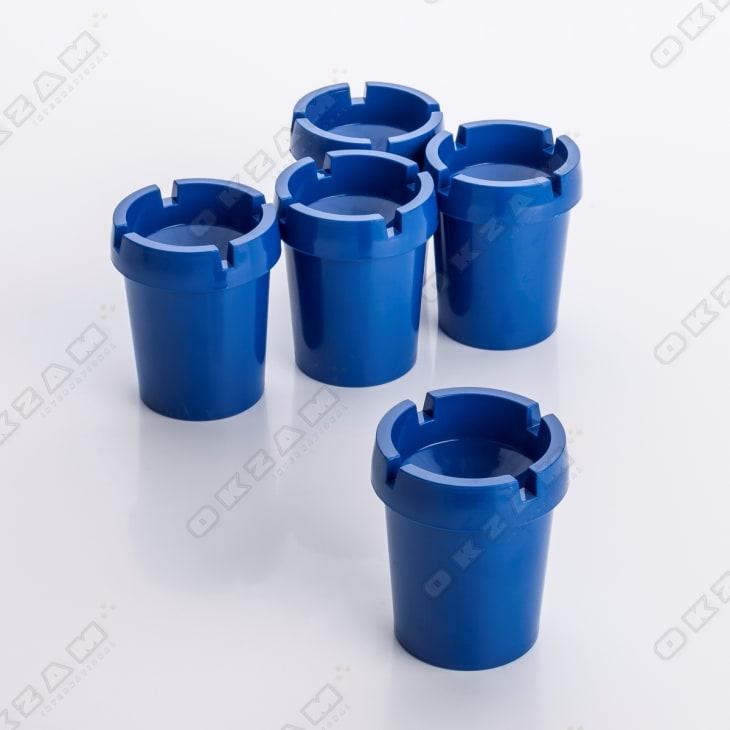 2x Aschenbecher Sturmaschenbecher rauchfrei Getränkehalter blau Kunststoff