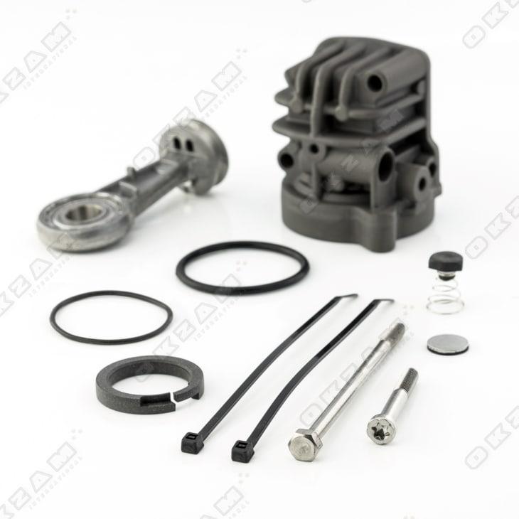 Luftfahrwerk Luftfederung Kompressor Pumpe Reparatursatz Set für BMW X5 99-06